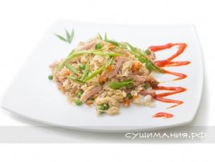 Рис Тяньшань с ветчиной
