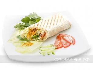 Шаурма Вегетарианская с морковкой по корейски