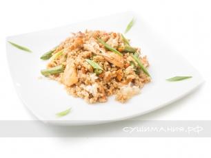Рис Тяньшань с лососем