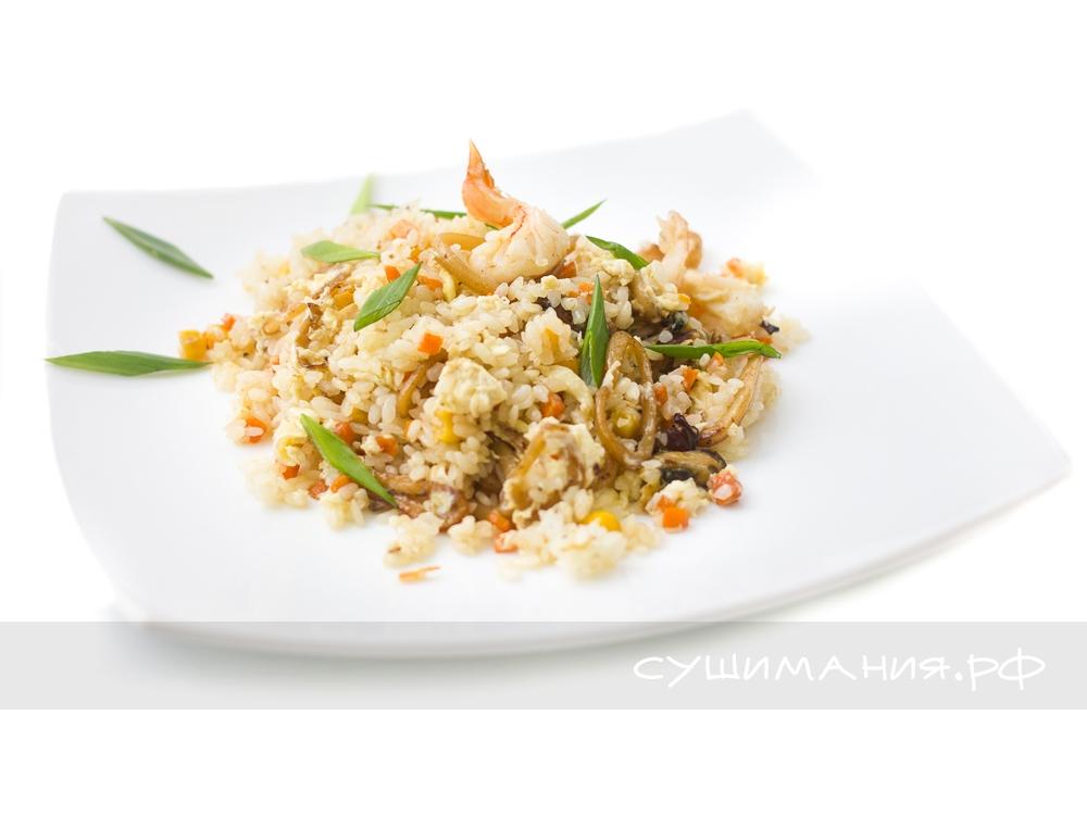 Рис Тяньшань с морепродуктами